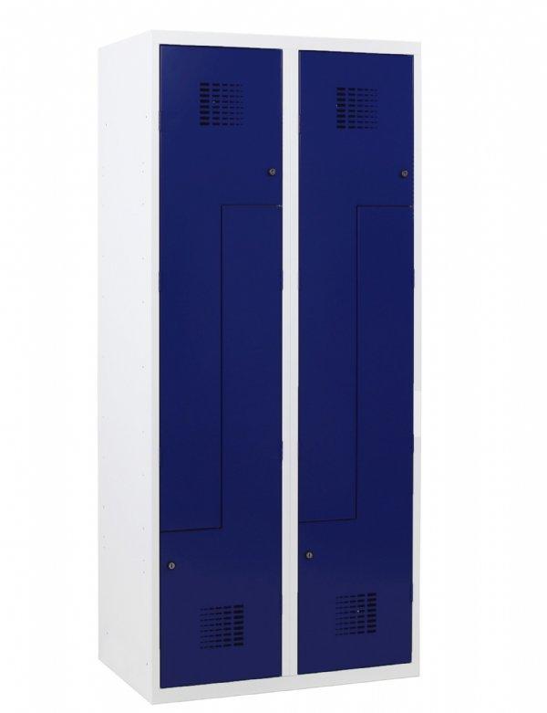 Z-Garderobekast 4 deuren en kolombreedte van 300mm afmeting 180x60x50cm ( HxBxD ) in vele Ral kleuren (1)