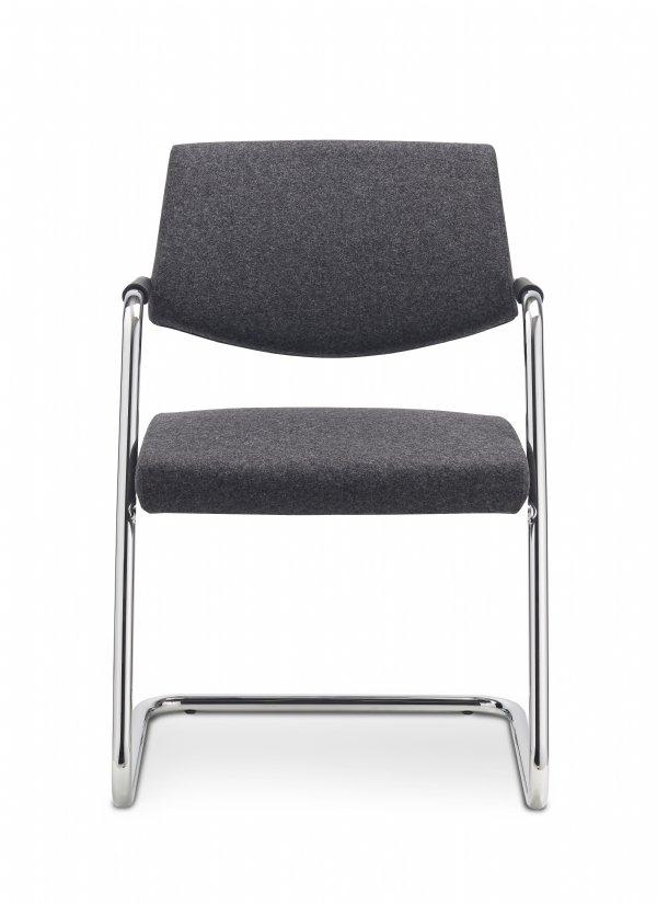 Comfortabele conferentiestoel Pass-partout medium back met armleggers voor vergaderruimten of spreekkamer (1)