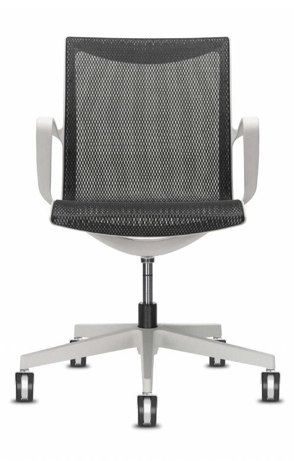 Kantoorstoel Soul Air met armleggers en mesh rug. Het nieuwe zitten op elegante wijzen. (1)