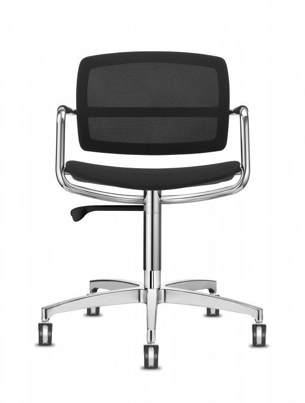 Vergaderstoel PK meeting met netweave bespanning op rug en zitting voor heerlijk comfortabel zitten (1)