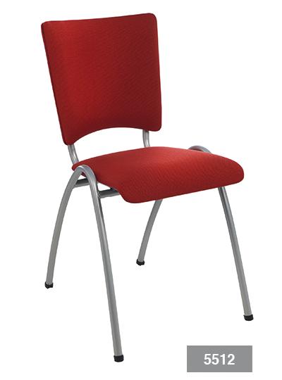 Bezoekersstoel of kantoorstoel Elegance 5512 gestoffeerd | voor kerken, scholen, wachtruimte en vergaderruimten (1)