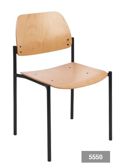 Conferentiestoel Grace 5550 in beuken | functioneel en elegant voor wachtkamer of spreekruimte (1)