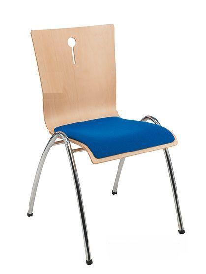 Projectstoel of zaal stoel Sempre 4462 met gestoffeerde zitting | levering o.a. in regio Utrecht, Noord Holland, Gelderland en Noord Brabant (1)
