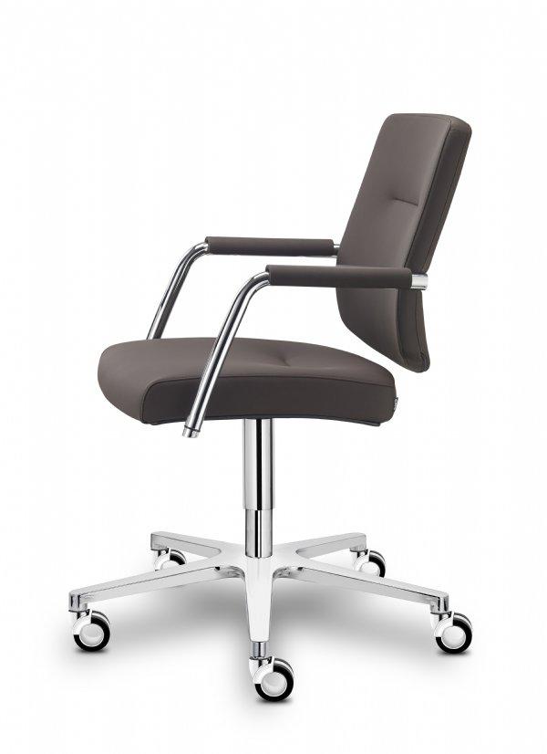 Vergaderstoel of bureaustoel Guest met armleggers van Sitland, ergonomische en comfortabele zit (1)