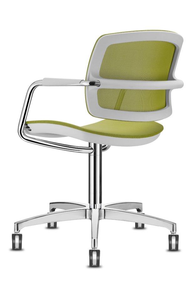 Comfortabele bezoekersstoel PK meeting comfort air met armleggers natuurlijk voor de beste prijs (1)
