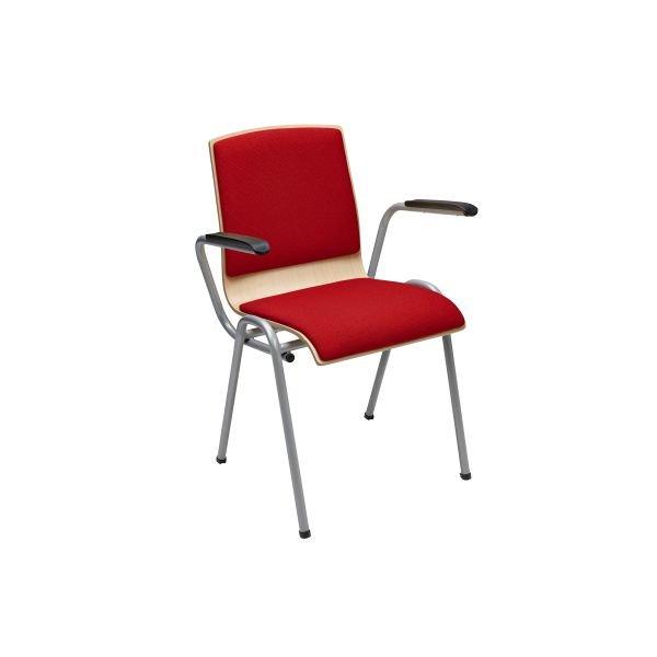 Kantinestoel Style 4425 gestoffeerd rug en zitting en armleggers