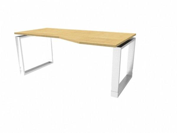 Bureau Wing model Ring in hoogte verstelbaar | Fraai en stijlvol bureau met uitsparing in blad (1)